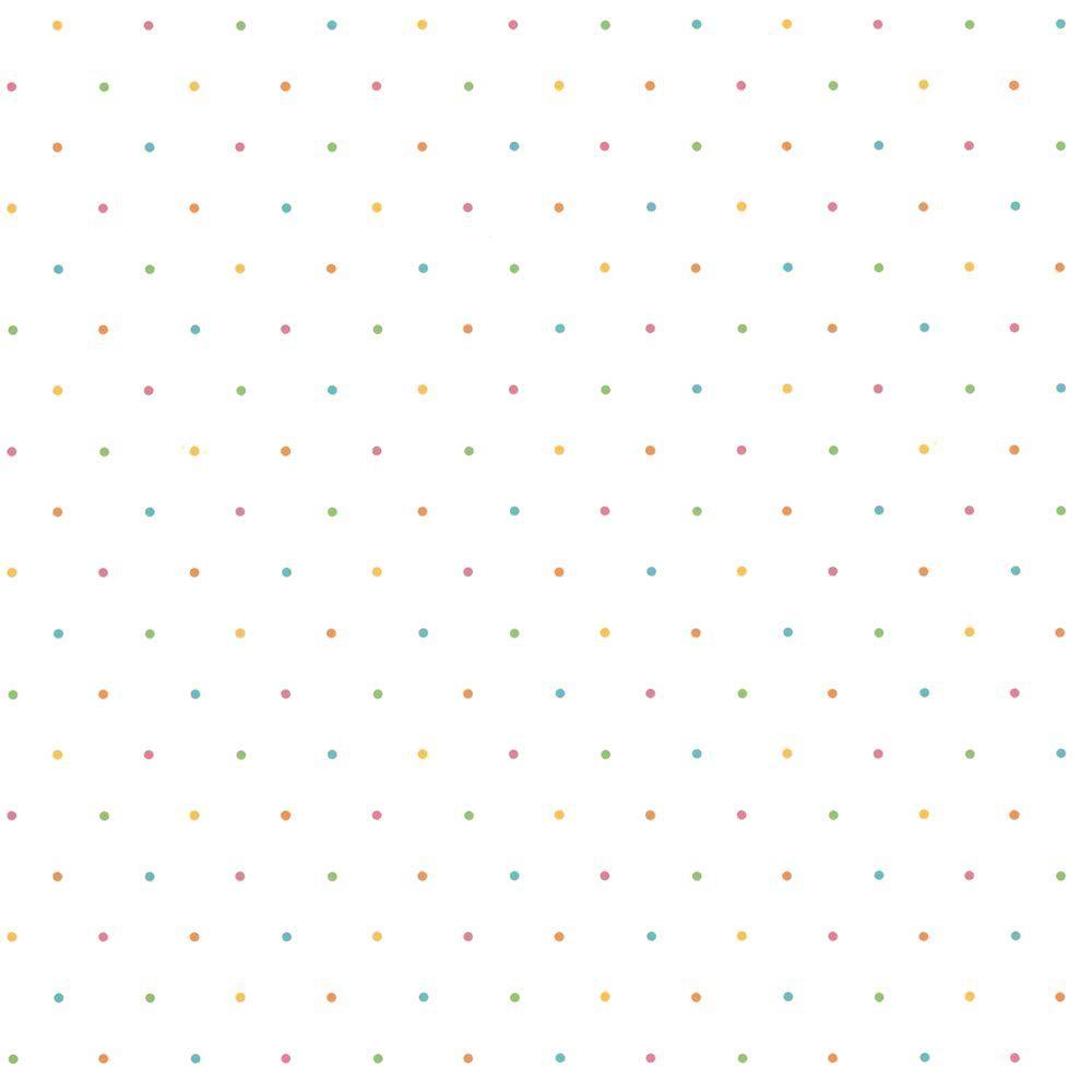 The Wallpaper Company 56 sq. ft. Pink Beach Dot Wallpaper