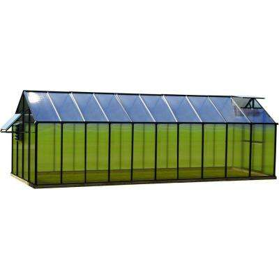 8 ft. x 20 ft. Black Mojave Greenhouse