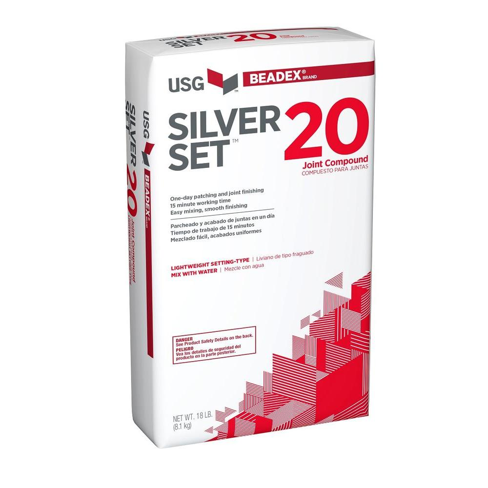 BEADEX Brand 18 lb  Silver Set 20 Setting-Type Joint Compound