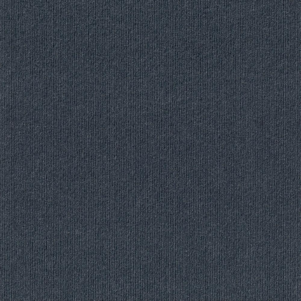 Premium Self-Stick First Impressions Denim Ribbed Texture 24 in. x 24 in. Carpet Tile (15 Tiles/Case)