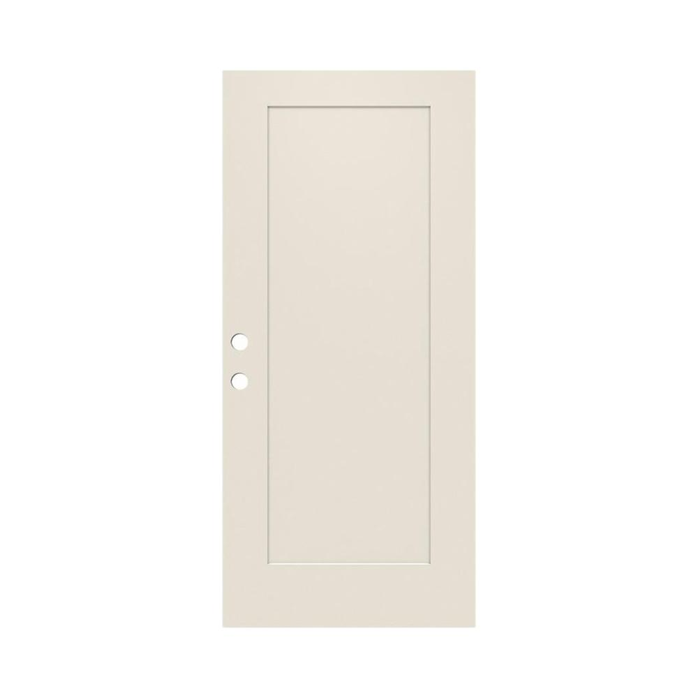 JELD-WEN 32 in. x 79 in. 1-Panel Craftsman Primed Steel Front Door Slab