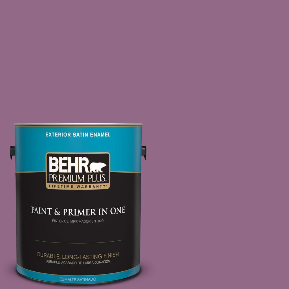 BEHR Premium Plus 1-gal. #680D-6 Lantana Satin Enamel Exterior Paint