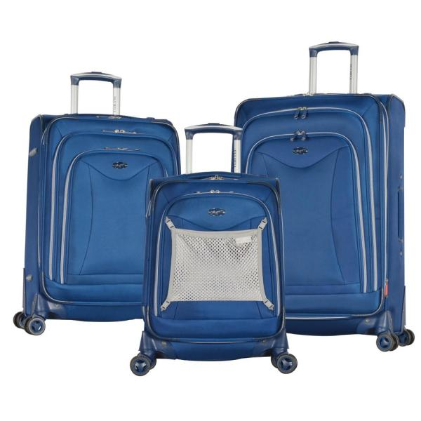 Olympia USA Luxe II Navy 3-Piece Expandable Spinner Set JE-4200-3-NY