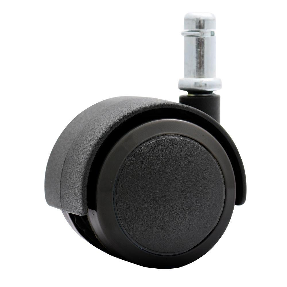 2 in. Rubber PU Office Chair Casters Safe for Hardwood Floors