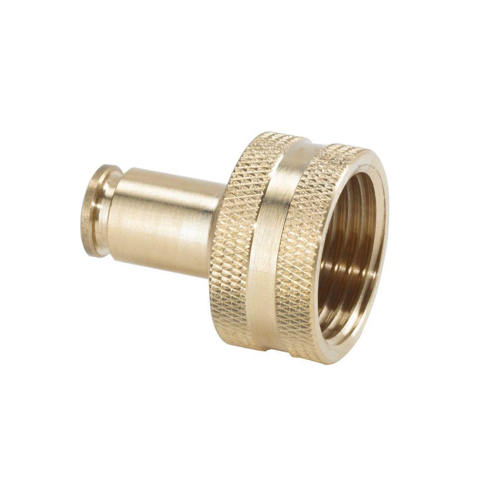 3/8 in. Brass Slip Lock Hose Adapter