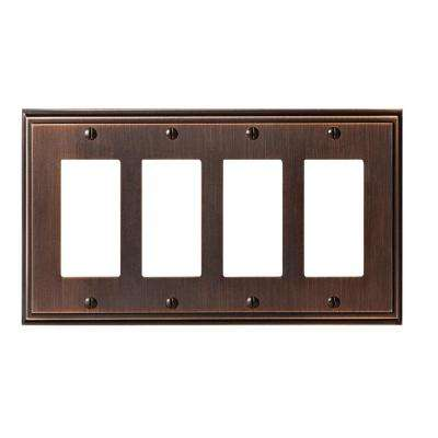Mulholland 4-Rocker Wall Plate, Oil-Rubbed Bronze