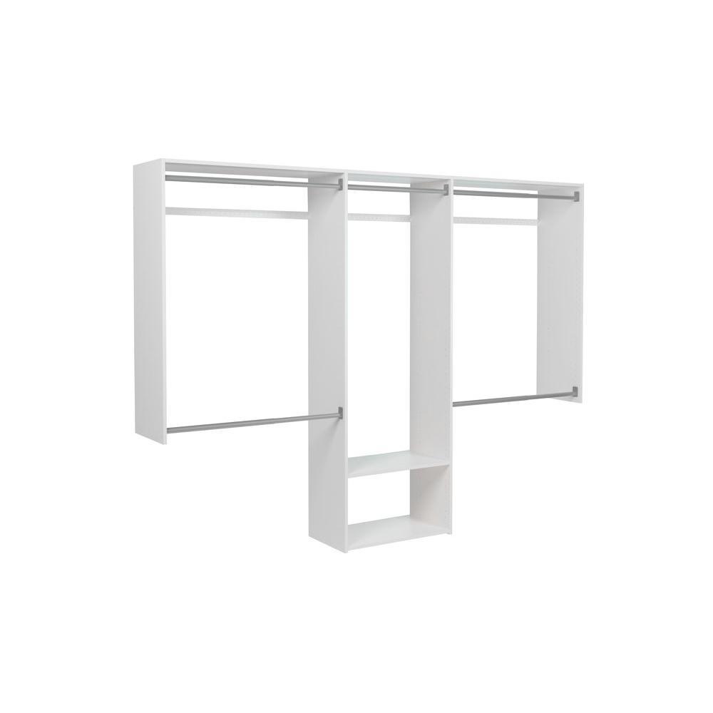 Martha Stewart Living 72 in. H x 96 in. W Classic White Essential Closet Kit