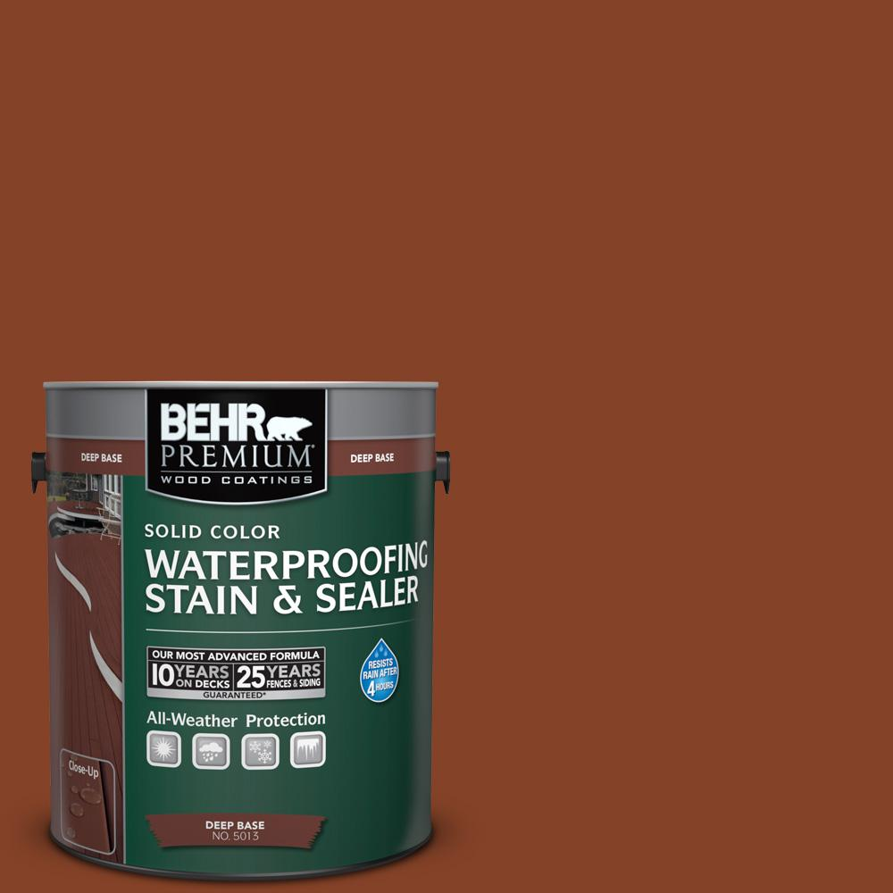 BEHR Premium 1 gal. #SC-142 Cappuccino Solid Color Waterproofing Stain and Sealer