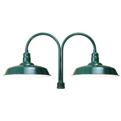 1-Light Green Outdoor Incandescent Flush Mount Light