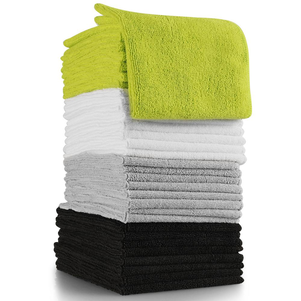 OxGord Microfiber Reusable Cleaning Towels (32-Piece)-CLMF