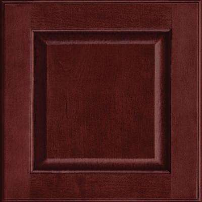 15x15 in. Cabinet Door Sample in Fox Hill Maple Square in Cabernet