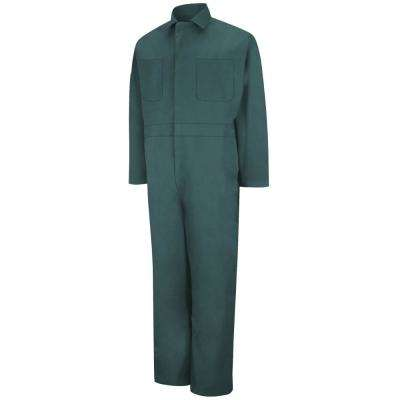 Men's Size 44 (Tall) Spruce Green Twill Action Back Coverall