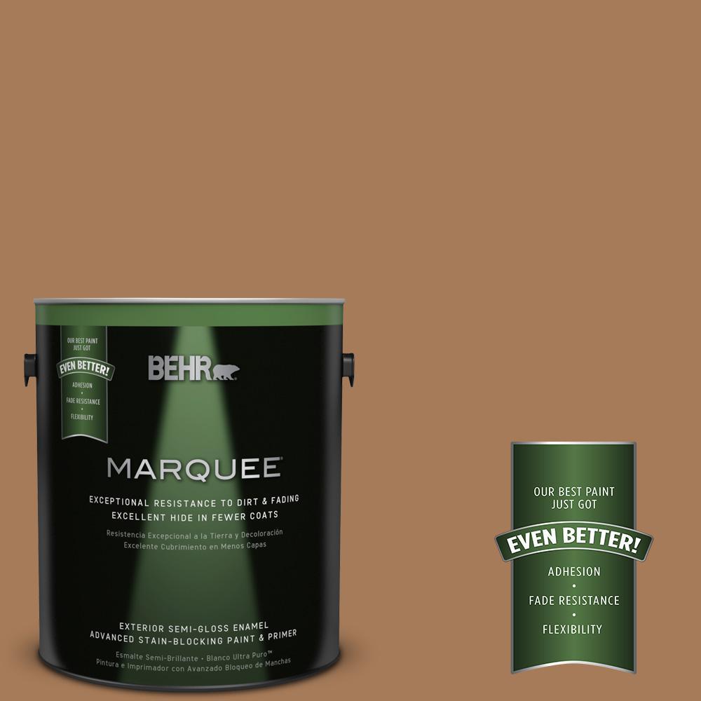 1-gal. #260F-6 Smokey Topaz Semi-Gloss Enamel Exterior Paint