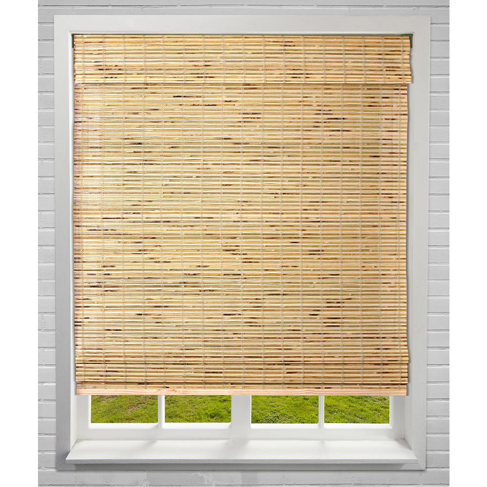 Arlo Blinds Petite Rustique Cordless Light-Filtering Bamboo Roman Shades 22 in. W x 60 in. L