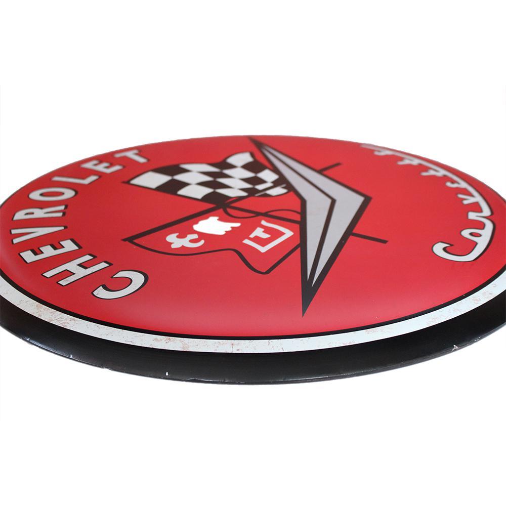 "New Corvette Blvd Metal Sign 20/"" x 3 1//4/"" Chevy Flags"