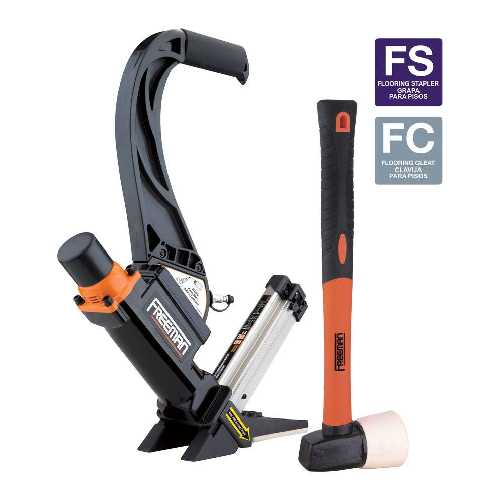 2-in-1 16-Gauge Lightweight Flooring Nailer with Plastic Handle