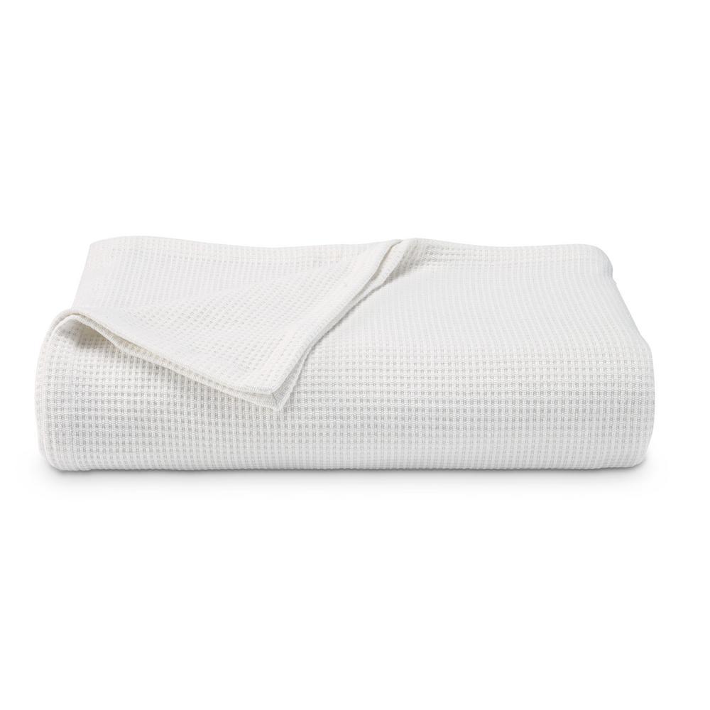 Regatta White Cotton Blend Full/Queen Blanket
