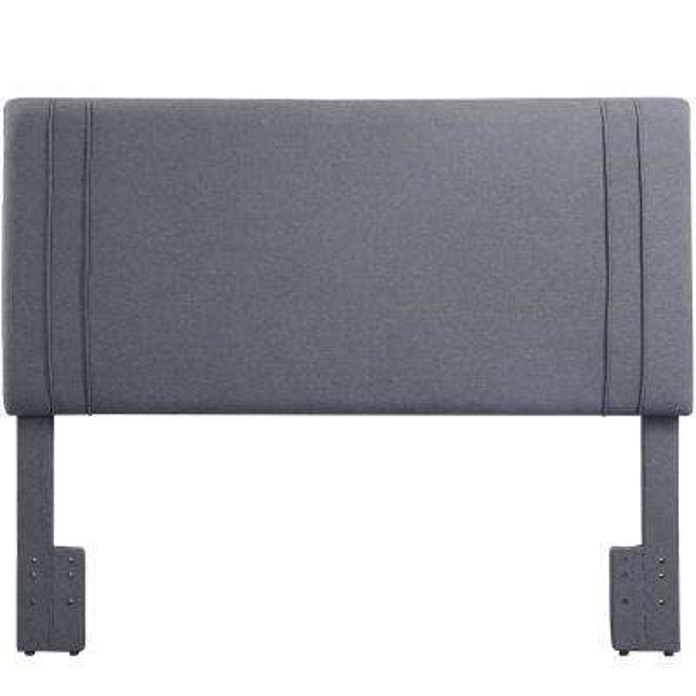 Quinn Dark Gray Linen Upholstered Headboard