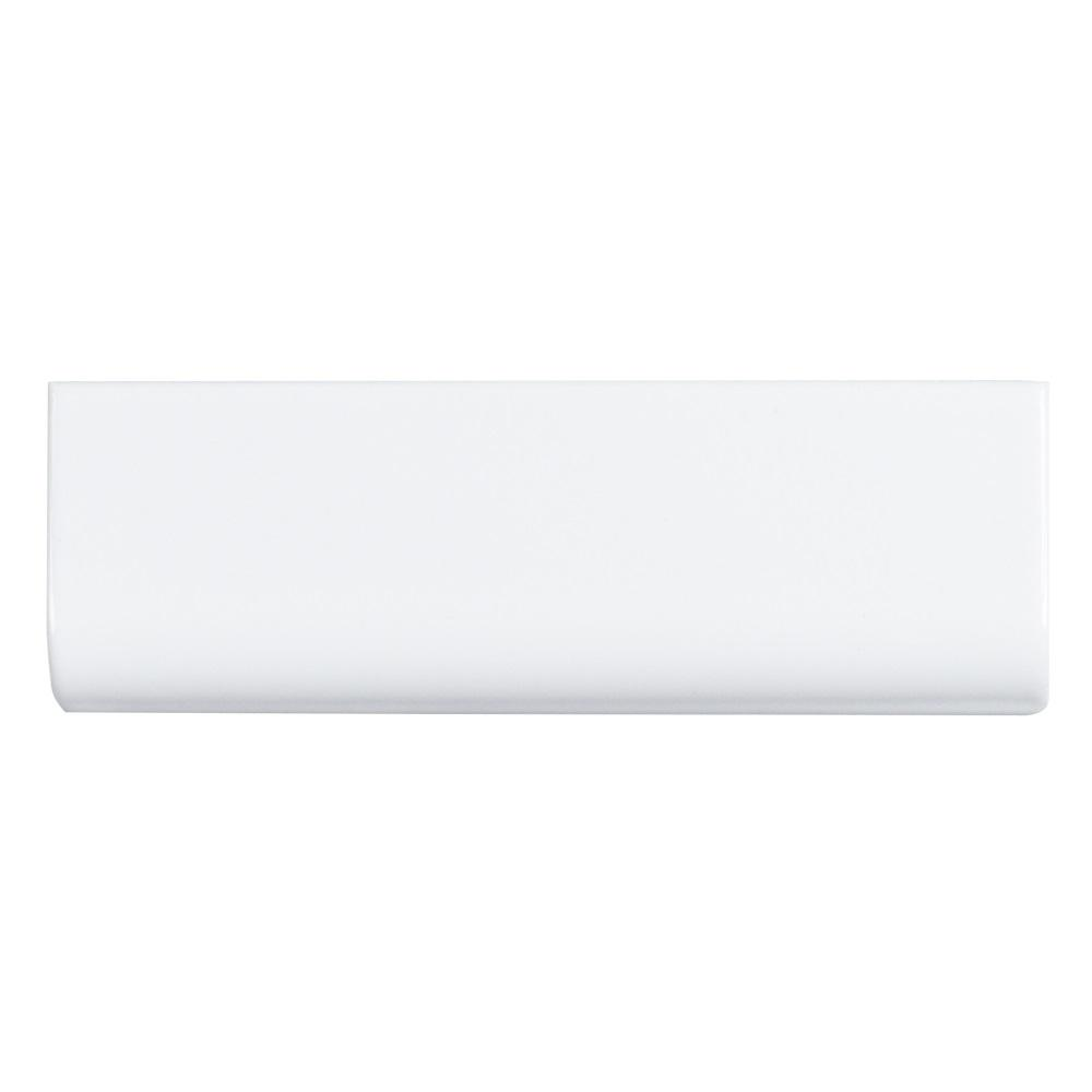 Jeffrey Court Fresh White 2 in. x 6 in. Ceramic Single Bullnose Trim