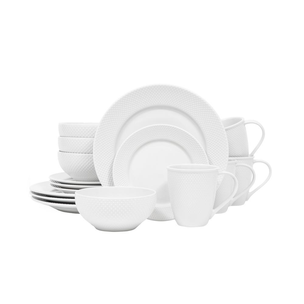 Callista White 16-Piece Dinnerware Set