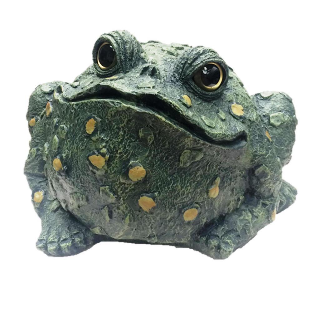 12 in. Jumbo Toad Collectible Garden Frog Statue