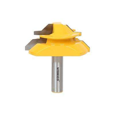 Lock Miter Up to 1 in. Stock 1/2 in. Shank Carbide Tipped Router Bit
