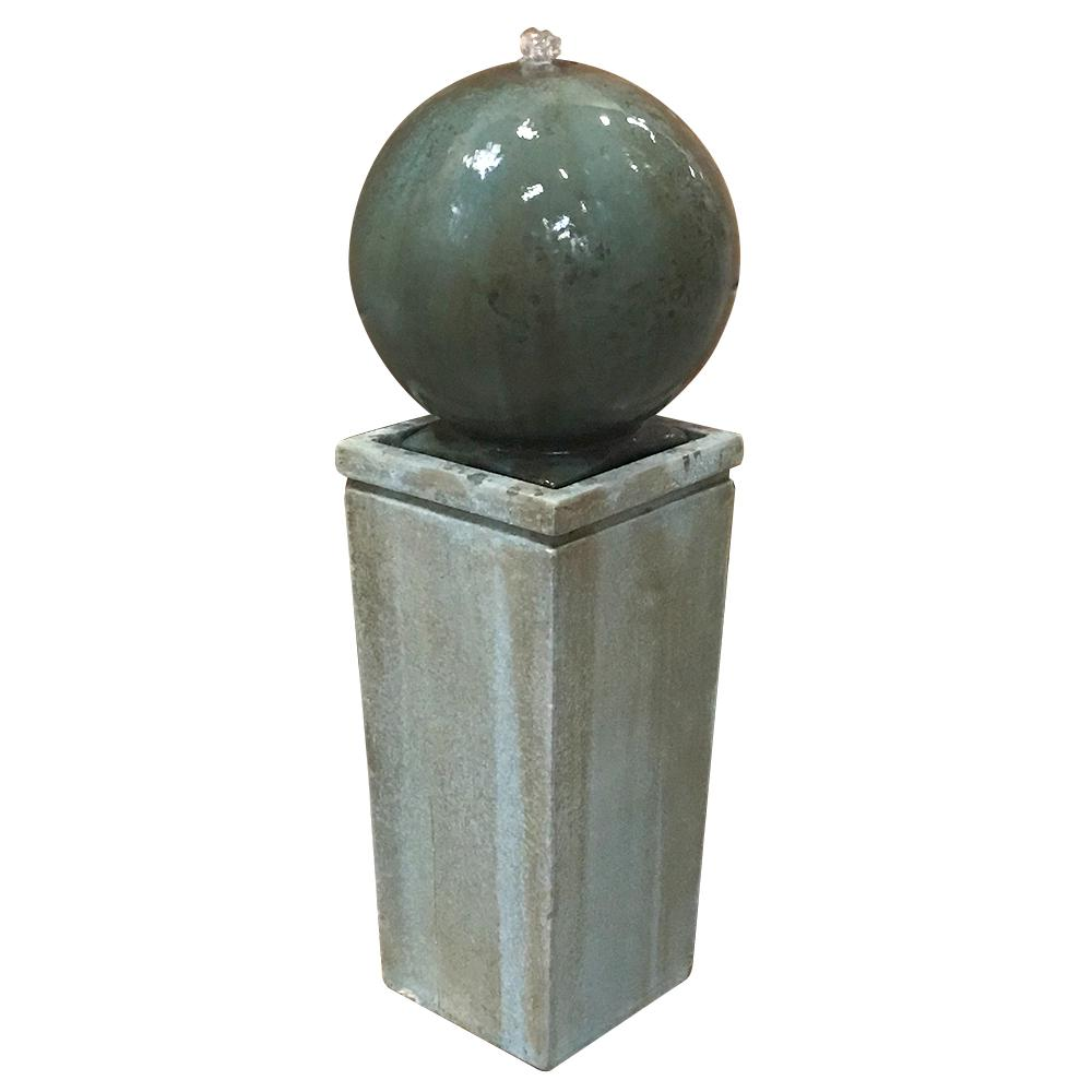 Classic Home & Garden Dorset Cement Sphere Fountain
