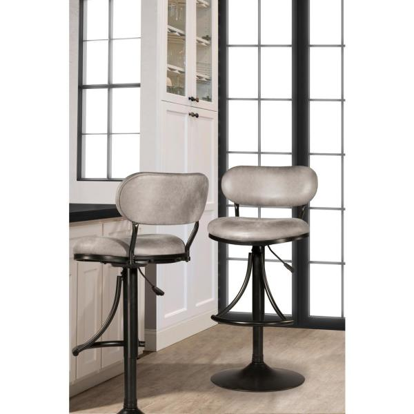 ca2f6ffefd17e7 Athena Black Swivel Adjustable Counter/Bar Stool. by Hillsdale Furniture
