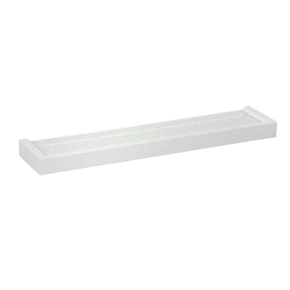 12 in. x 6 in. White Euro Floating Wall Shelf