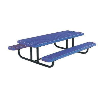 8 ft. Diamond Blue Commercial Park Preschool Portable Rectangular Table