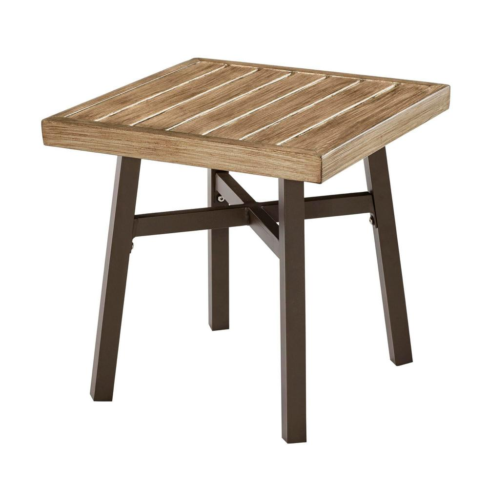 Mix and Match Farmhouse Metal Outdoor Accent Table