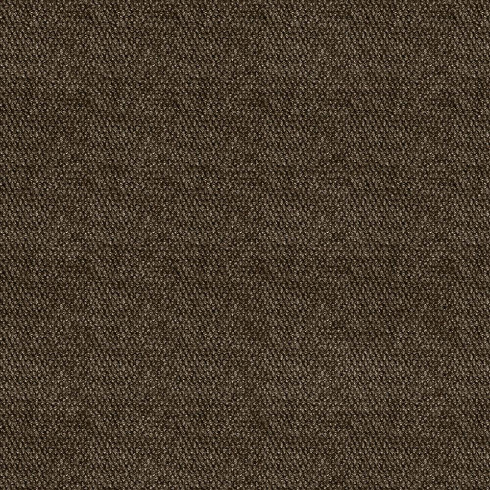 null First Impressions Espresso Hobnail Texture 24 in. x 24 in. Carpet Tile (15 Tiles/Case)