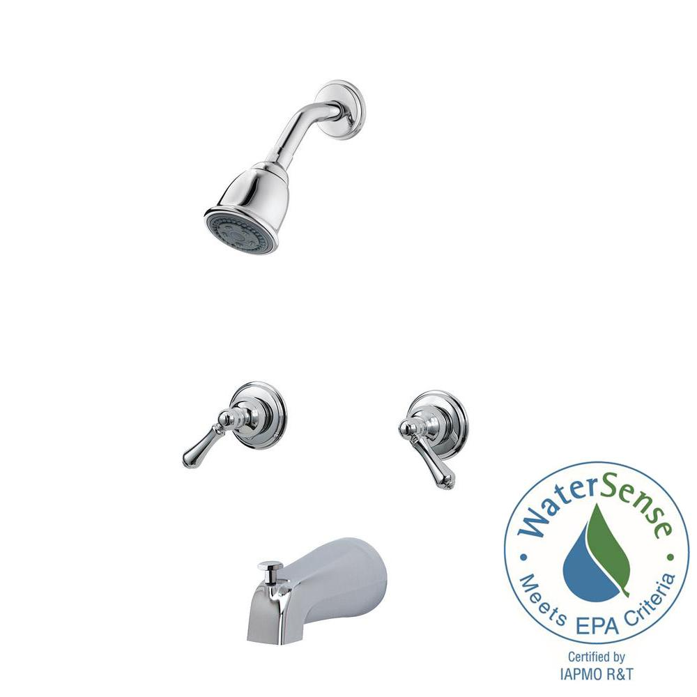 Pfister 2-Handle Tub and Shower Faucet Trim Kit in Polished Chrome ...