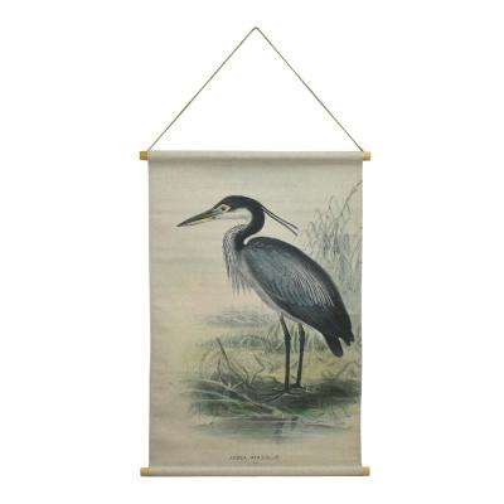 Heron Hanging Linen Tapestry
