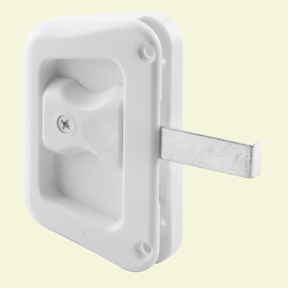 Prime Line White Sliding Screen Door Latch With Screw A