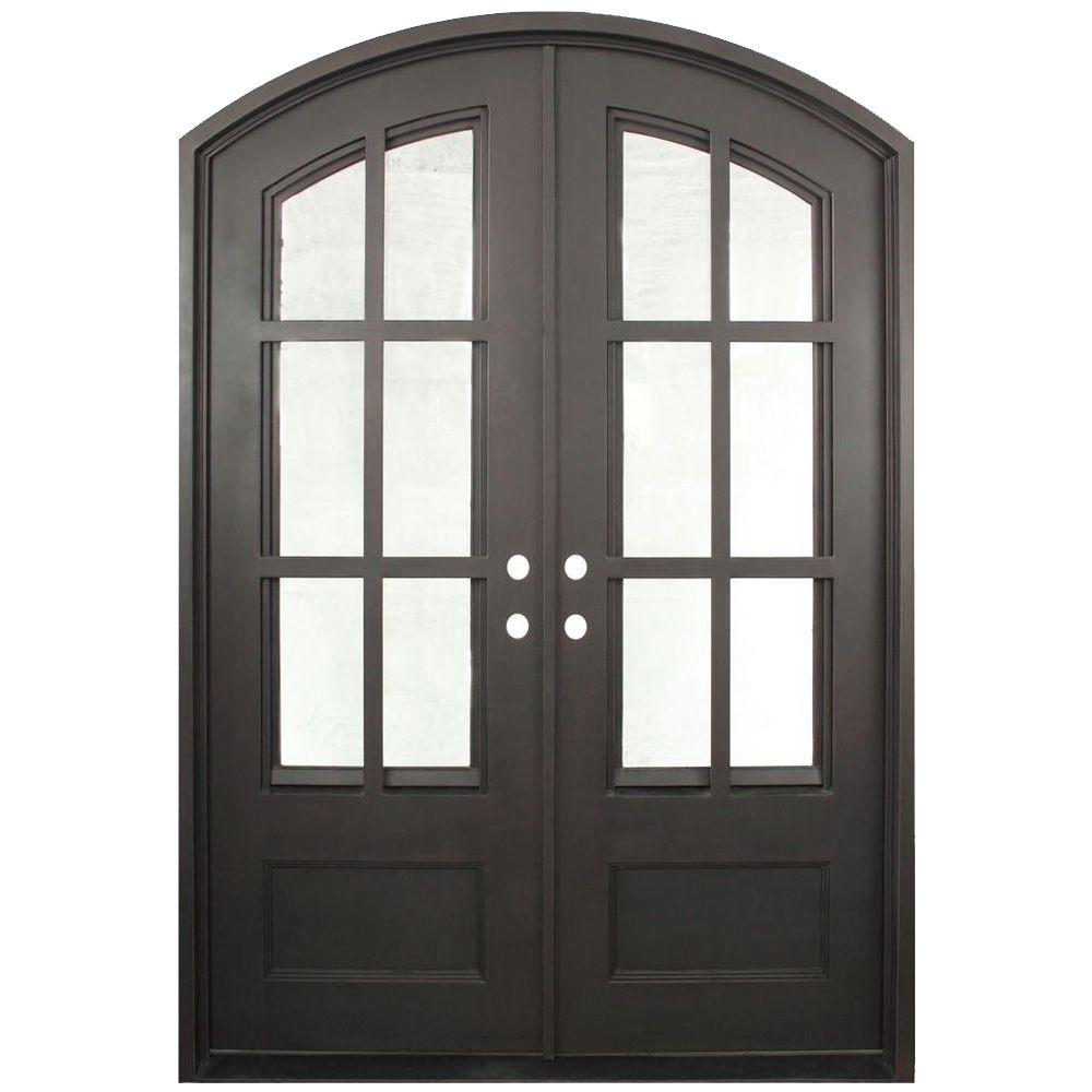 Iron Doors Unlimited 62 in. x 97.5 in. Craftsman Classic Decorative 12 Lite Painted Oil Rubbed Bronze Wrought Iron Prehung Front Door-IN6297RELC - The Home ...  sc 1 st  Home Depot & Iron Doors Unlimited 62 in. x 97.5 in. Craftsman Classic ...