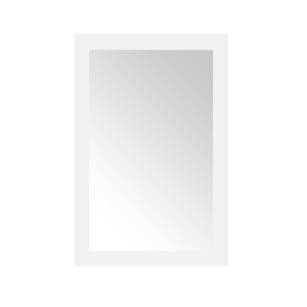 Sassy 24 in. L x 36 in. W Framed Wall Mirror in White