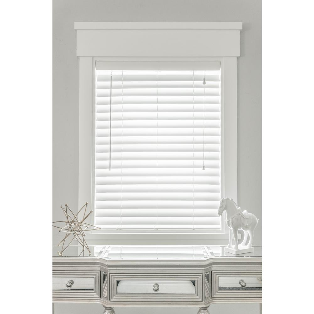 24 in. W x 36 in. L Faux-wood White Automated 2-1/2