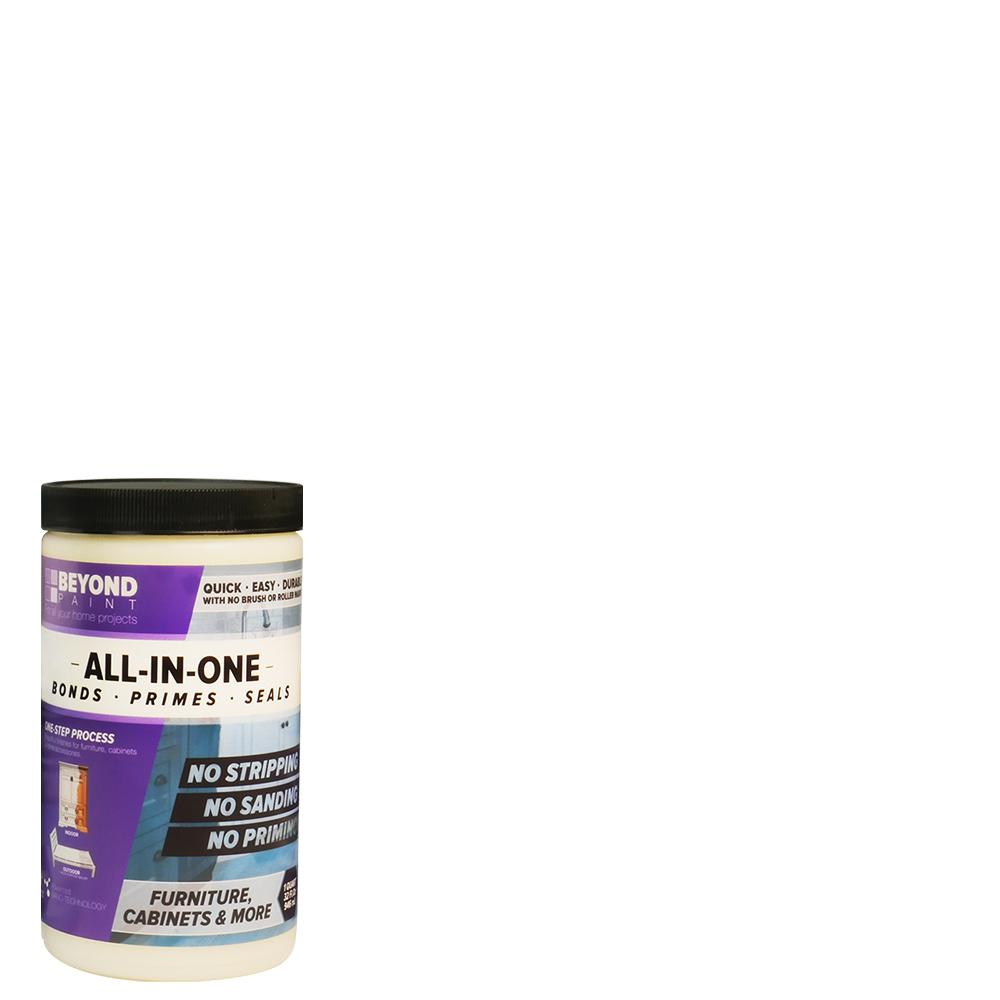 Beyond Paint 1 Qt. Bright White Furniture, Cabinets And