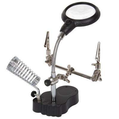 4.25 in. 2-LED 3.5x Helping Hand Magnifier with Alligator Clips