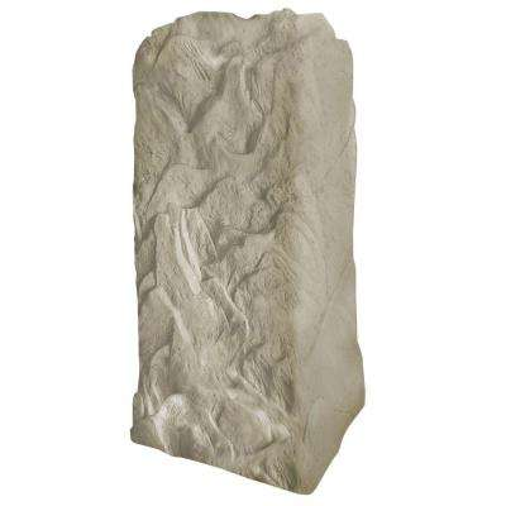 36-3/4 in. H x 18 in. W x 19 in. L Monolith Landscape Sandstone Resin Rock Utility Cover