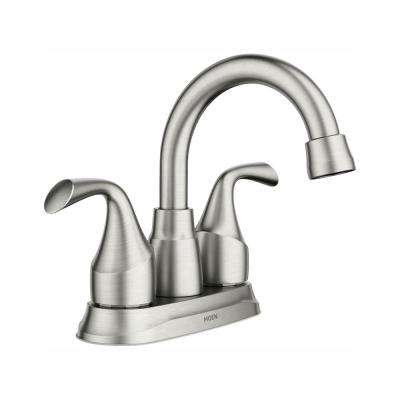 Idora 4 in. Centerset 2-Handle Bathroom Faucet in Spot Resist Brushed Nickel
