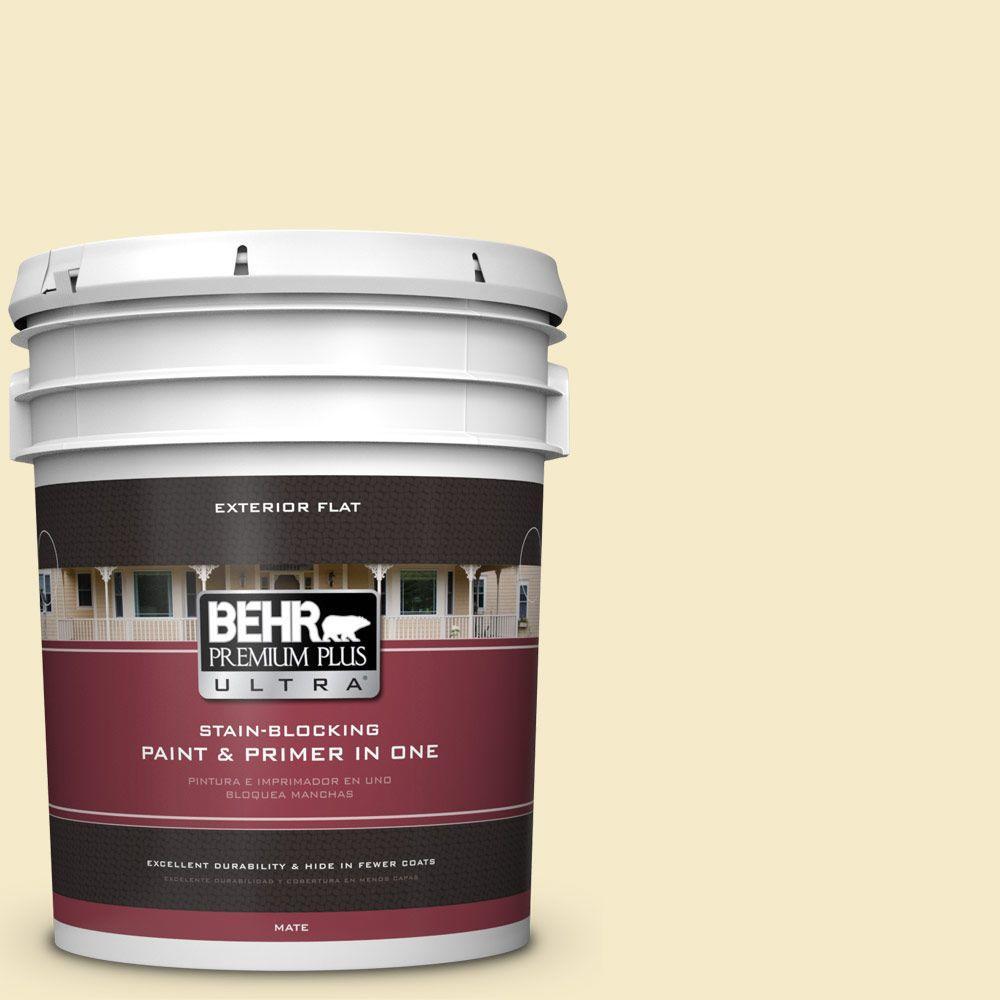 BEHR Premium Plus Ultra 5-gal. #PPL-40 Summer Sunshine Flat Exterior Paint