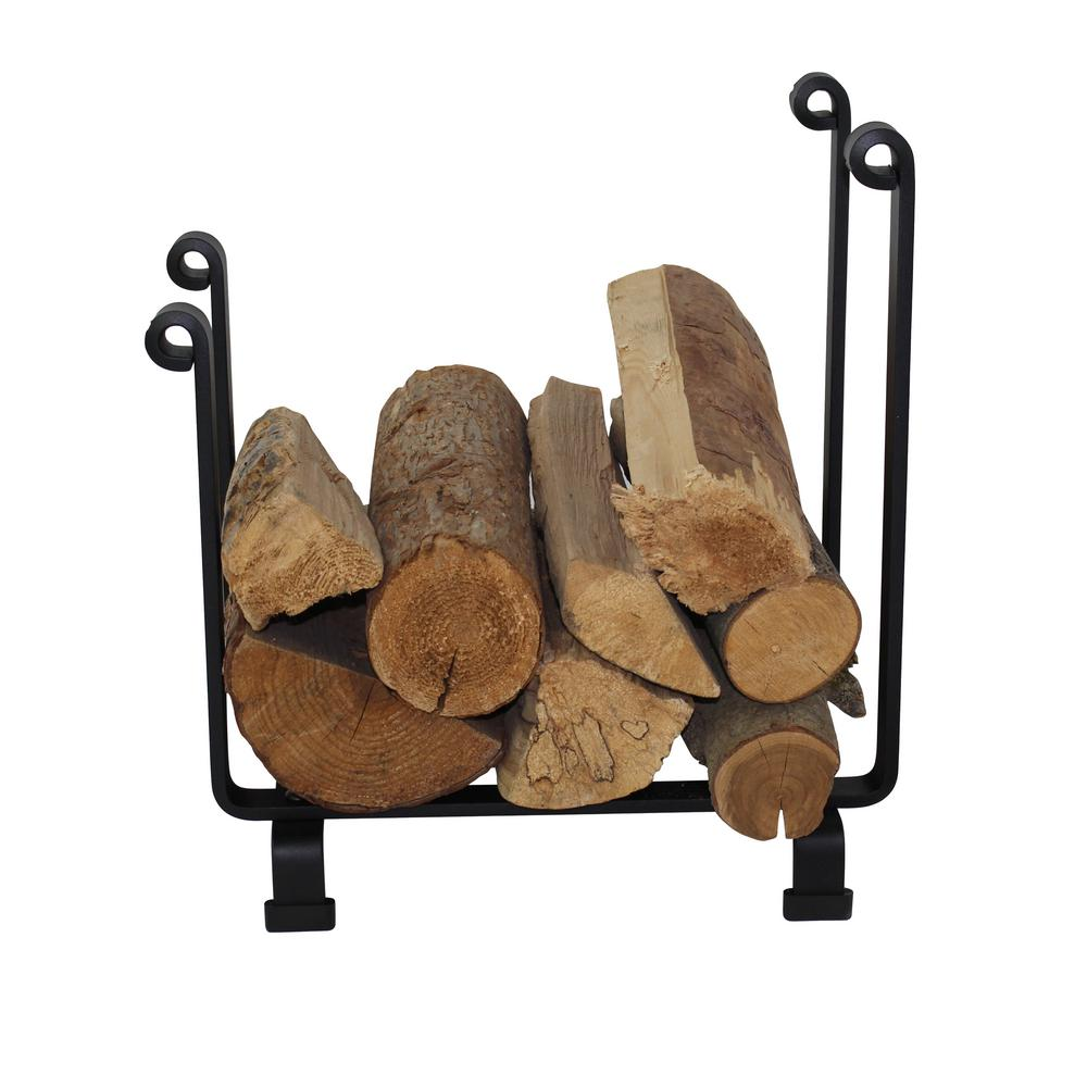 Handcrafted Indoor/Outdoor Hearth Firewood Rack Black