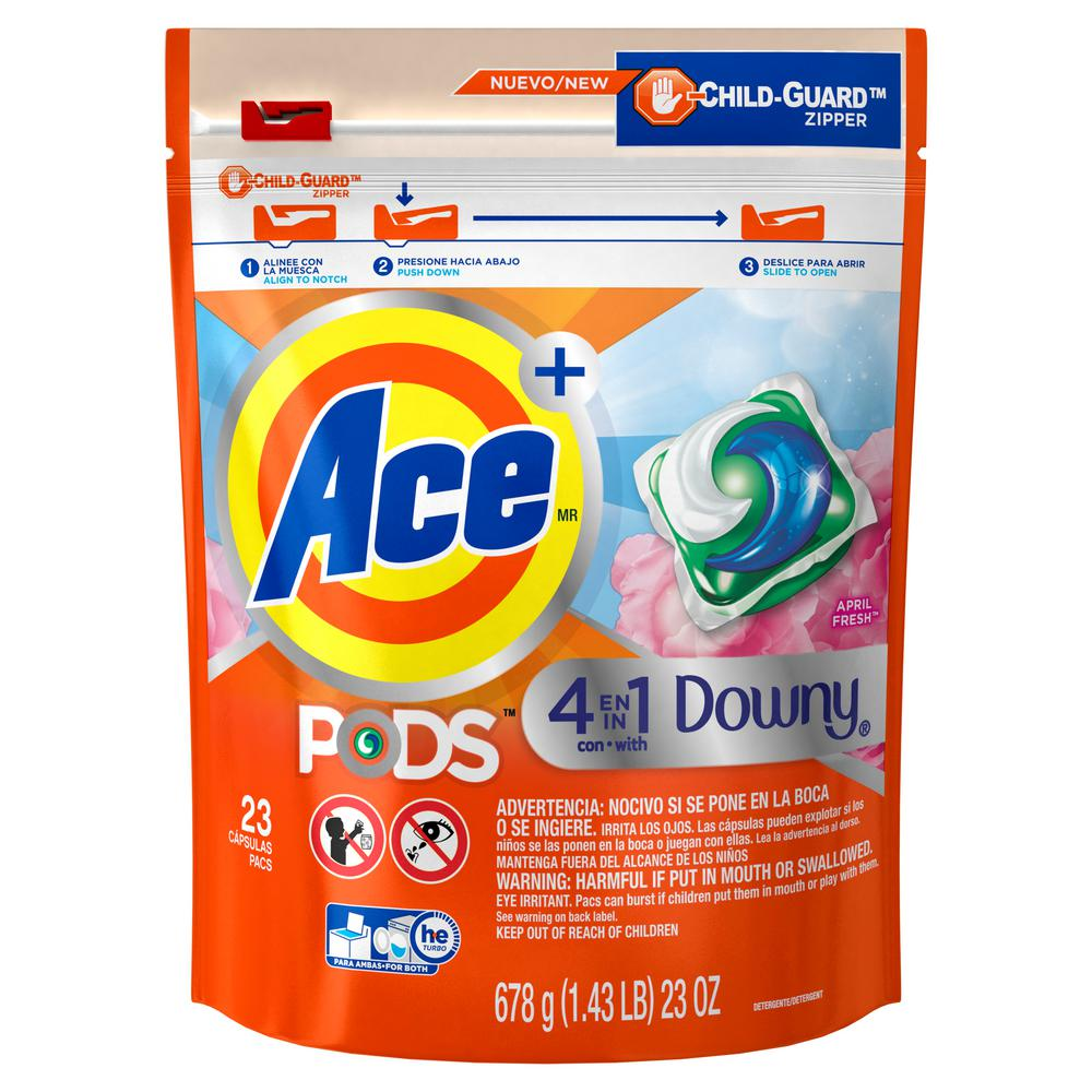 Ace Pods April Fresh Scent Laundry Detergent with Downy (23-Count)