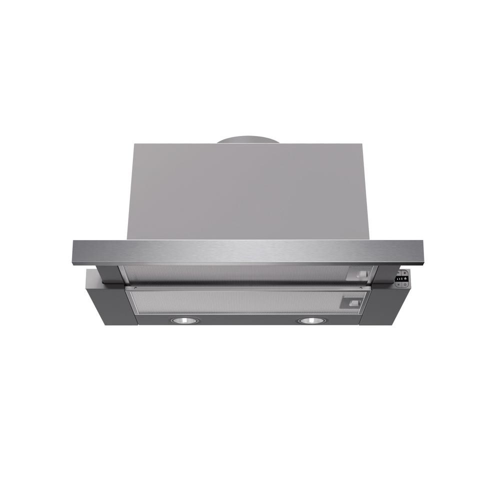 Pull Out Range Hood With Lights In Stainless Steel