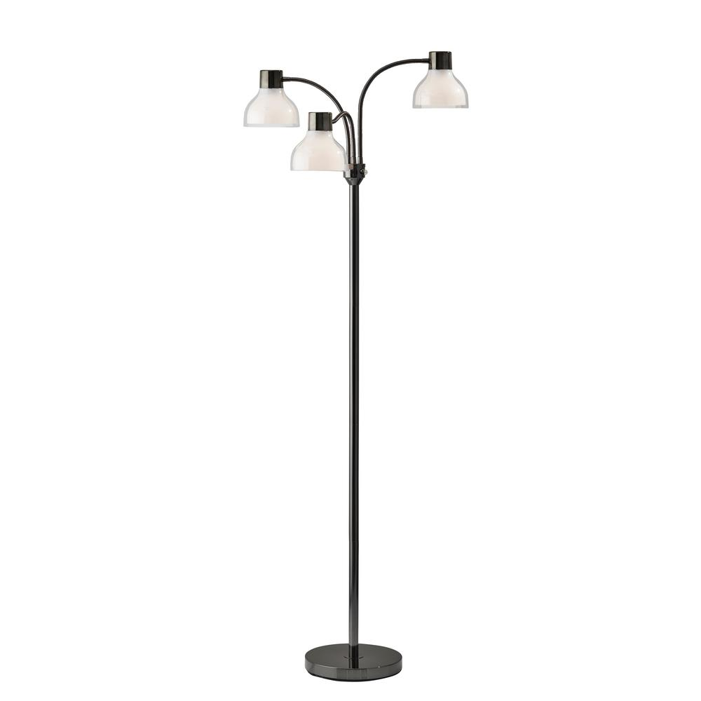 Presley 69 in. Black Nickel Floor Lamp