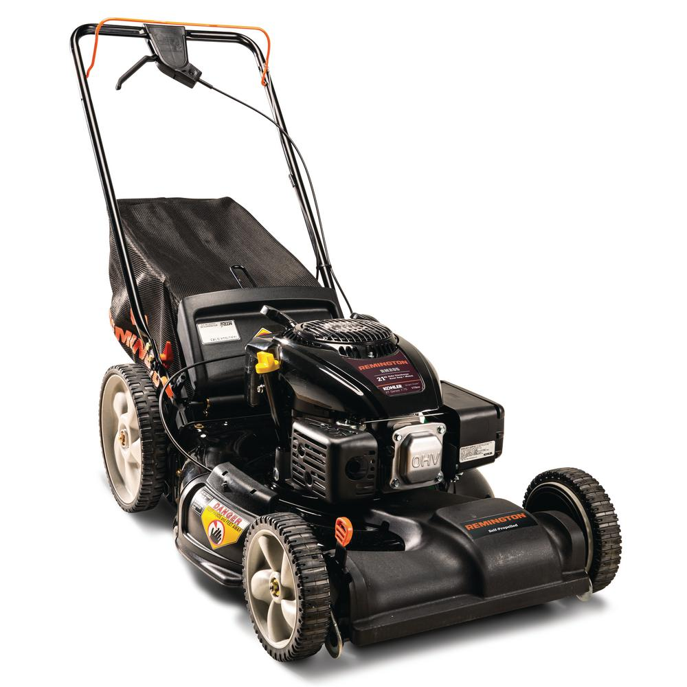 Remington 21 in. 173cc High Rear Wheel Variable Speed FWD Self-Propelled 3-in-1 Gas Lawn Mower