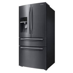 Samsung 33 inch W 24.73 cu. ft. French Door Refrigerator in Black Stainless Steel by Samsung