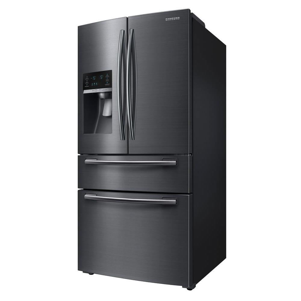 Samsung 33 In W 24 73 Cu Ft French Door Refrigerator In